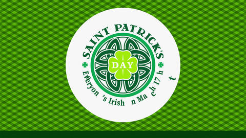 st patricks day party publicity with funny quote everyones irish on march 17th around celtic shield Animation