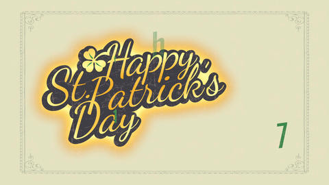 joyful angel patricks day offset concept for vacation date reminder and celebration party Animation