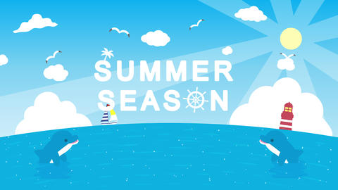 Summer opening animation Videos animados
