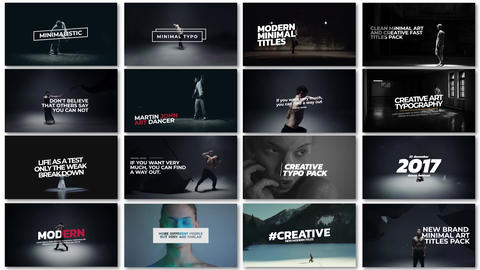 Minimal art titles After Effects Template