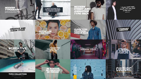 Trendy titles pack After Effects Template