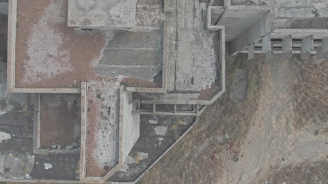 Background of abandoned reinforced concrete structures of the building Idea post GIF