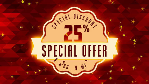 25 percentage special reduction proposal for sought following good with retro insignia with medal Animation