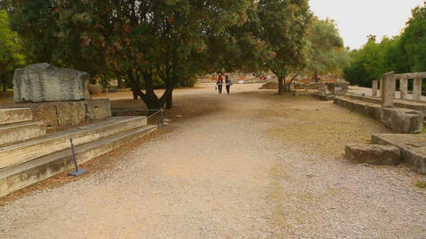 Remains of ancient Altar of Zeus found during Agora archaeological excavations Footage