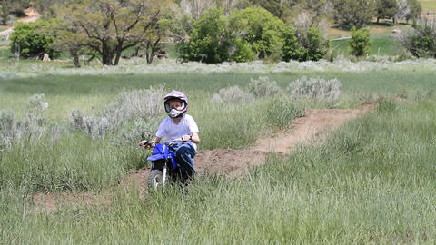 ATV and motorcycle on dirt track P HD 0970 Live Action