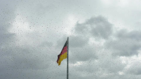 The german flag Footage