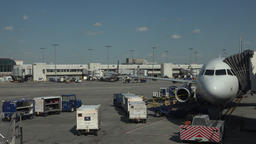 Aircraft emtpy cargo Dulles International Airport ramp 4K 045 Footage