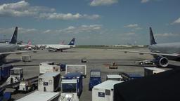 Aircraft taxi ramp Dulles International Airport Washington DC 4K 034 Footage