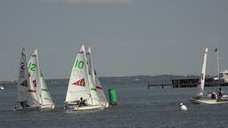 Annapolis Maryland Yacht Club sailboat training youth fast 4K 044 Footage