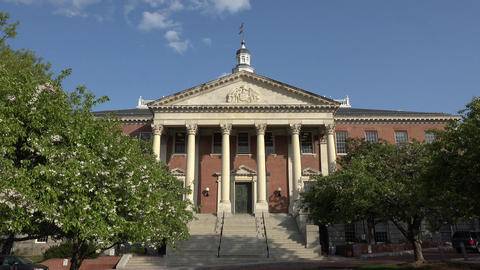 Annapolis Maryland State House historical building 4K 058 Footage