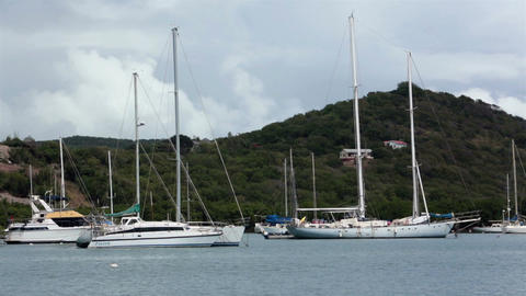 Antigua Island Nelsons Dock Marina sailboats HD 1195 Footage