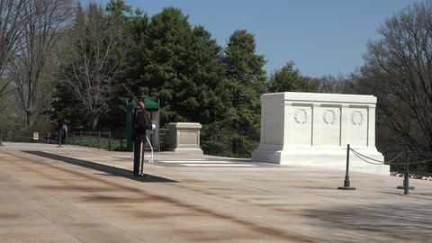 Arlington National Cemetery Tomb Unknown Soldier Guard 4K 016 Footage