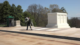 Arlington National Cemetery wreath Guard of Honor 4K 021 Footage