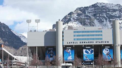 BYU University football stadium pan P HD 8850 Footage