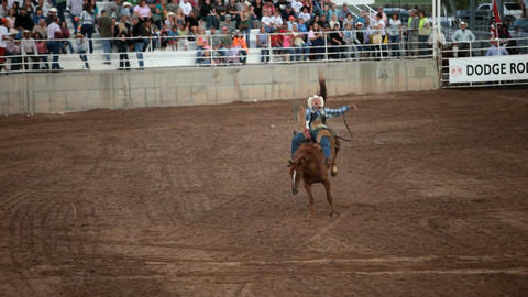 Bareback horse ride rodeo competition P HD 1059 Footage