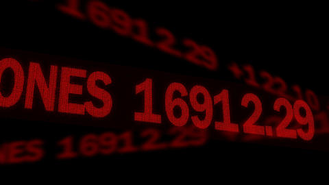 World stock market indexes, figures displayed on ticker, global financial crisis Footage