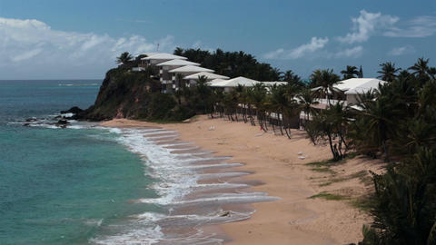 Beautiful Beach Antigua Caribbean resort HD 1207 Live Action