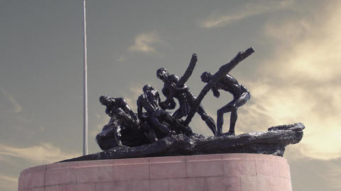 Triumph of Labour statue at Chennai Footage