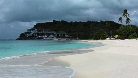 Beautiful beach resort sandy Antigua Island Caribbean HD 1228 Live Action