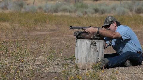 Black powder rifle shoot P HD 2258 Footage