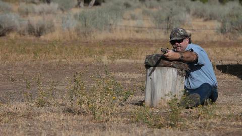 Black powder rifle target practice P HD 2262 Live Action