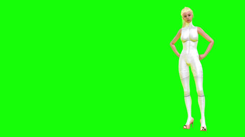 703 4k 3d animatedtwo footages of sexy Avatar girls walking talking and dancing Animation