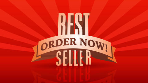 season sale promo for preorder business using 3d letters best seller over huge radial rays Animation