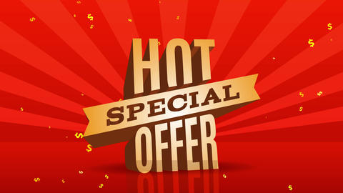 warm special offer network publicity for ecommerce marketing with gigantic font over red intelligent Animation