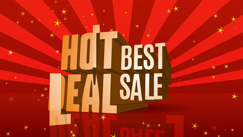discount ad with gold words warm deal best selling over sunbeam scene sharing celestial like effect Animation