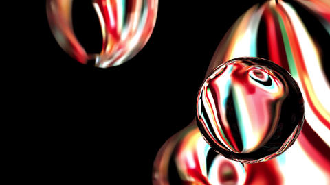 Digital Render Futuristic Mystery Spheres Animation