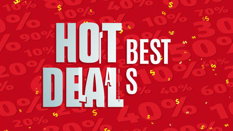 glowing deal excellent sale written with big printing over red scene designed with opposite count Animation