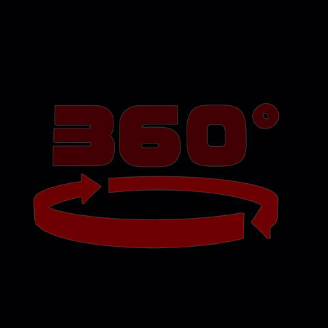 360°VR Icon alph (color:red) Animation
