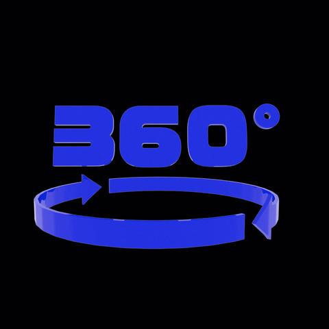 360°VR Icon alph (color:blue) Animation