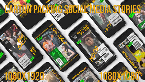 Carton Packing Social Media Plantillas de Premiere Pro