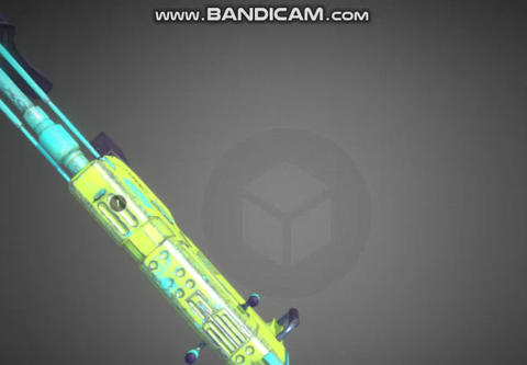 Cyberpunk light auto gun 3D Model