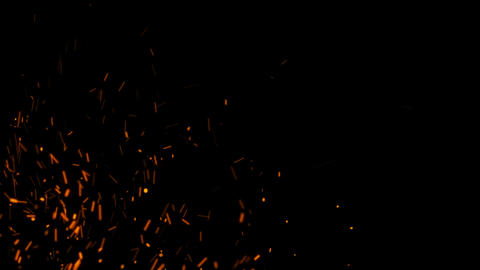 4K Fire Sparks with Alpha Matte Channel Animation