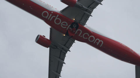 Airliner Gear Up. Airbus A321 AirBerlin D-ABCH in 4K High Definition Video Live Action