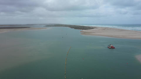 Drone footage of The Coorong near the mouth of the Murray River in South Australia Live Action