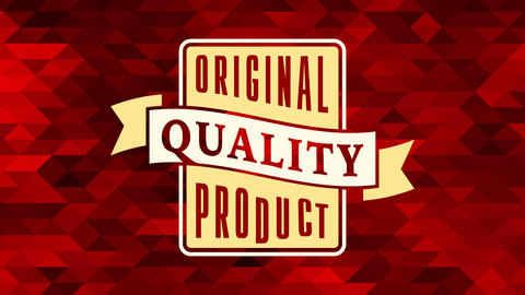 commercial business offering new original quality product with rectangular graphic over background Animation