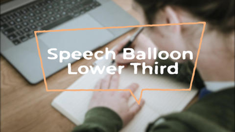 12Speech Balloon Lower Third Motion Graphics Template