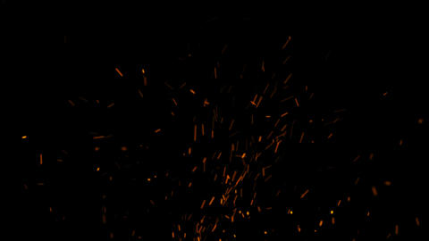 Realistic Hot Fire Sparks with Alpha Matte Channel Animation