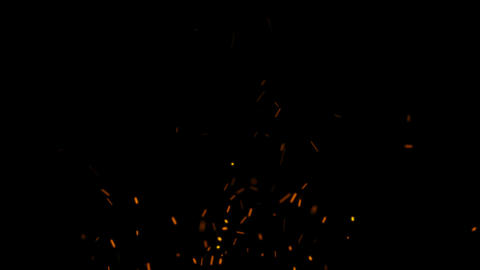 Fire Sparks with Alpha Matte Channel Animation