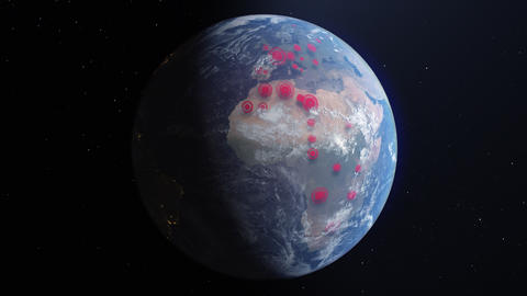Infection on the Planet Animation
