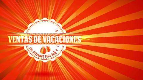 spanish feliz navidad ventas de vacaciones xmas vacation sales with greetings script on glossy Animation