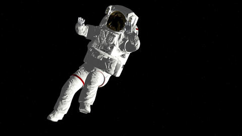 Astronaut falls to open space. Spacewalk. Elements of this image furnished by Live Action