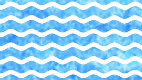横 波ストライプ 水のイメージ CG動画