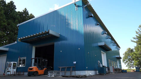 Rural town factory, blue sky and factory Live Action