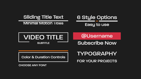 Sliding Title Text Motion Graphics Template
