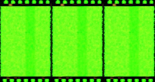 vintage old grunge film strip frame with chroma key green Live Action