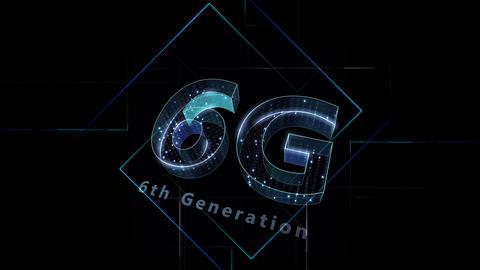6G Digital Network technology 6th generation mobile communication concept Background 1 N2 black 4k Animation